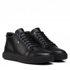 Ботинки мужские кожаные черные Brionis