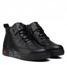 Ботинки мужские кожаные черные зимние Extrem