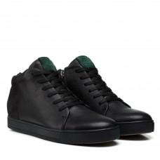 Ботинки мужские кожаные черные зимние Zumer